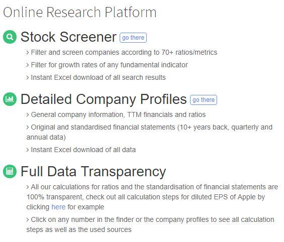 Plataforma de Investigación de SimFin
